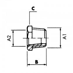 Réduction hexagonale mâle-femelle - filetage NPT - 304L - Série 3000 LBS