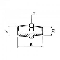 Réduction hexagonale mâle - mâle NPT