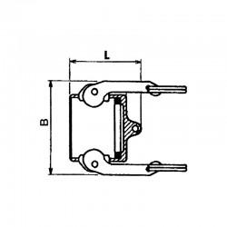 Bouchon pour adaptateur type DC