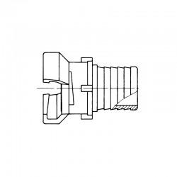 Demi-raccord symétrique Guillemin avec verrou à douille annelée réduite