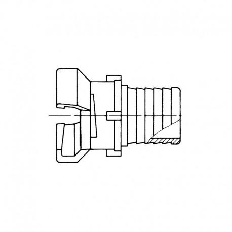 Demi-raccords symétrique avec verrou à douille annelée réduite