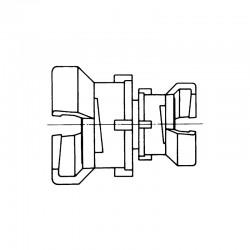 Demi-raccord symétrique avec verrou
