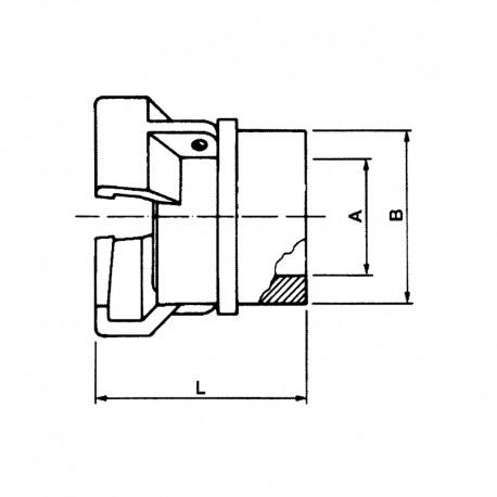 Demi-Raccord symétrique sans vérou, à bourrelé, à douille lisse à souder