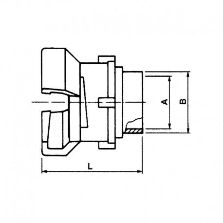 Demi-raccord symétrique avec verrou à douille lisse à souder