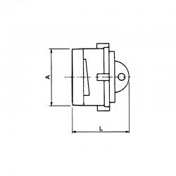 Bouchon symétrique avec verrou et chainette