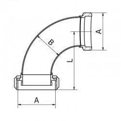 Coude mâle femelle MACON avec joint torique 316 L