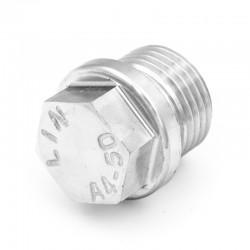 Bouchon mâle à tête hexagonale avec épaulement DIN 910 - filetage gaz - inox 316