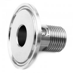 Ferrule filetée mâle cylindrique ISO 228-1 - RA inf 0,8µ - 316L