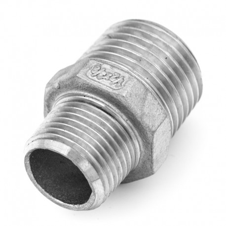 Reduction male male moulée - Filetage GAZ (NFE 03 004)