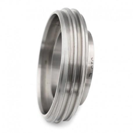 Pièce filetée courte DIN 11864-1 forme A pour tube ISO inox 316L