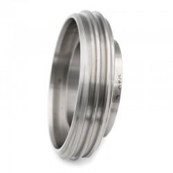 Pièce filetée courte DIN 11864-1 forme A pour tube ASME en inox 316L