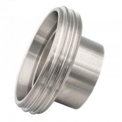 Pièce filetée longue DIN 11864-1 forme A pour tube ISO en inox 316L
