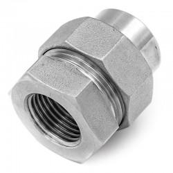 Raccord Union Femelle-Femelle avec joint - Ecrou octogonal - Filetage gaz - 316L - Série J06