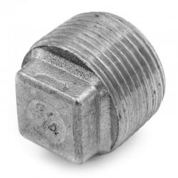 Bouchon mâle à tête carrée filetage gaz 316L