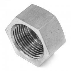 Bouchon hexagonal femelle filetage gaz ou NPT 316L