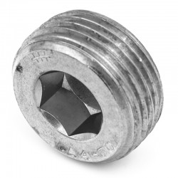 Bouchon mâle hexagonal creux - Filetage gaz - inox 316