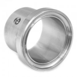 Pièce lisse longue DIN 11864-1 forme A pour tube ASME en inox 316L