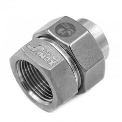 Raccord Union Femelle - Femelle - Ecrou octogonal -  Filetage gaz - 316L - Série 06