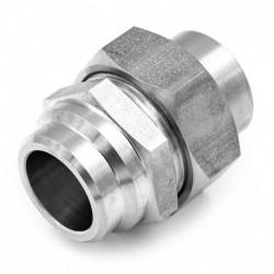 Raccord Union Lisse - Lisse avec joint - écrou hexagonal - 316L -  Série J