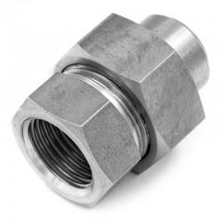 Raccord Union Lisse - Femelle avec joint - Ecrou hexagonal - Filetage gaz - 316L - Série J