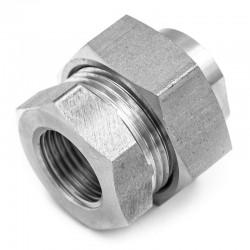 Raccord Union Femelle-Femelle avec joint - écrou hexagonal - Filetage gaz - 316L - Série J