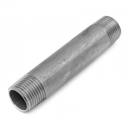 Tube à mamelons 100 mm filetage gaz 316L
