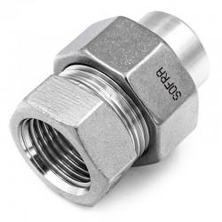Raccord Union Lisse - Femelle - Ecrou octogonal - Filetage gaz - Série M6L