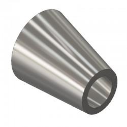 Réduction excentrique ISO roulé soudé - 316L