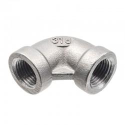 Coude 90° Femelle moulé - filetage gaz - inox 316