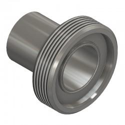 Pièce filetée longue DIN 11864-1 forme B pour tube ISO