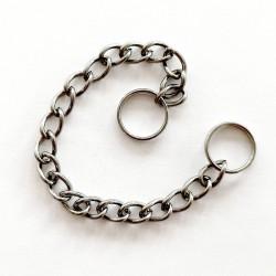 Chaînette 17cm avec 2 anneaux diamètre 10mm