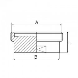 Bouchon mâle DIN 11864-1 Forme A 316L
