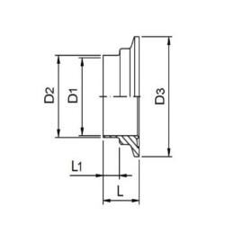 Ferrule CLAMP femelle DIN 11864-3 Forme A
