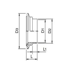 Ferrule CLAMP mâle DIN 11864-3 Forme A