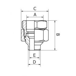 Femelle - Lisse Filetage GAZ (ISO 228/1)