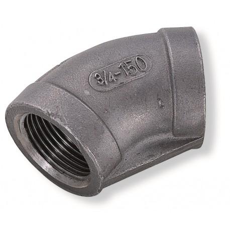 Coude 45° Femelle-Femelle - Filetage GAZ(NFE 03 004)